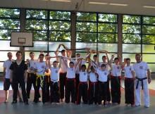 Gruppenbild Kickboxprüfung